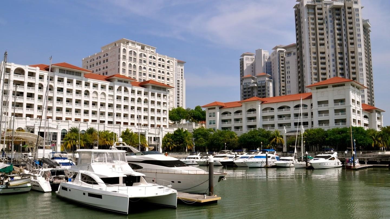 Straits Quay marina, Penang, Malaysia.