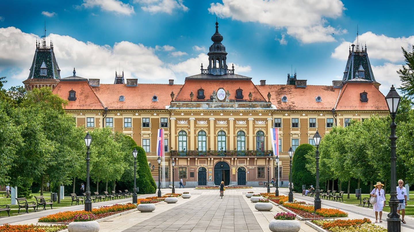 The County Hall in Sombor, Serbia