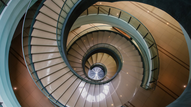 Spiral staircase of Museum Bank Negara, Kuala Lumpur, Malaysia