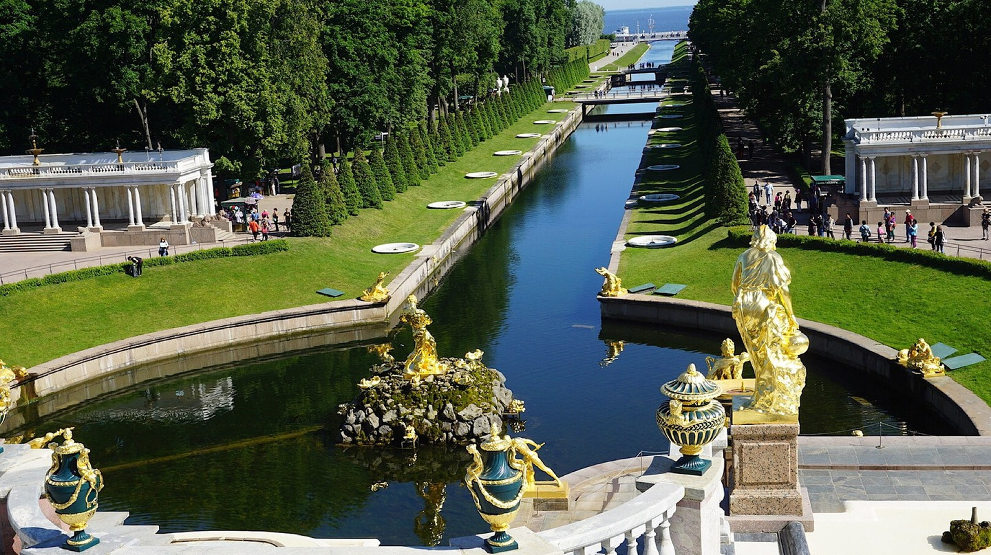 Peterhof views of the Gulf of Finland