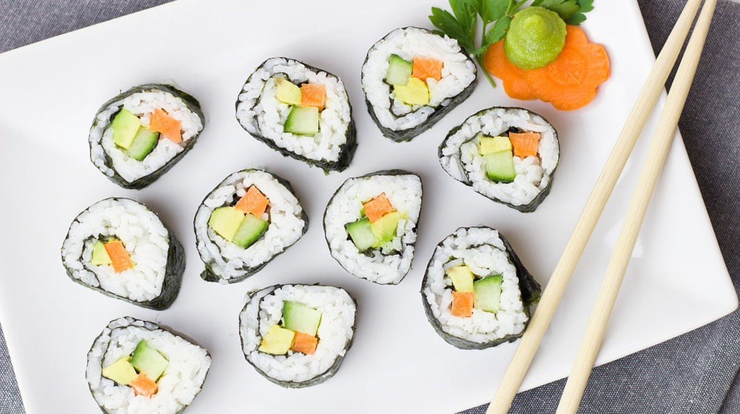 Veggie sushi with rice | © Pixbay