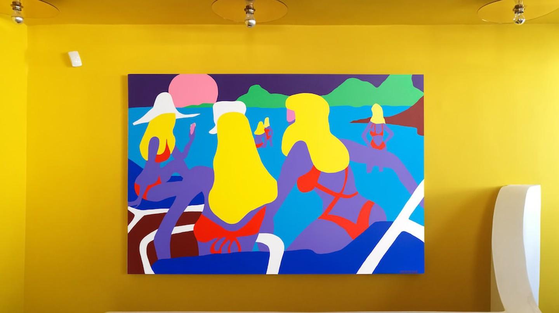 Todd James installation shot at Dio Horia, Mykonos