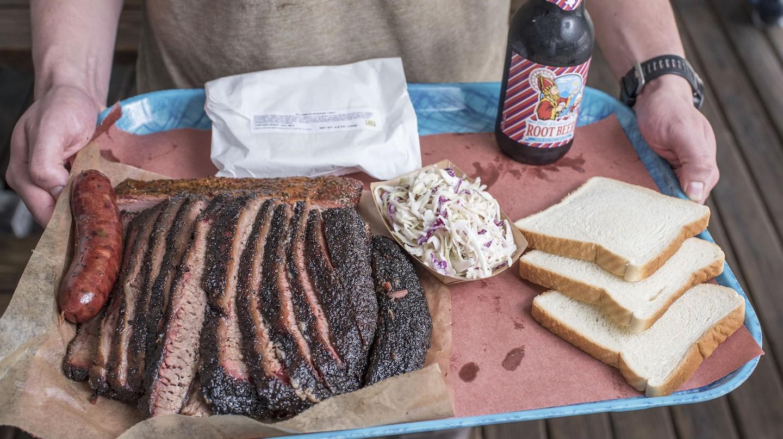 Lunch tray at Franklin BBQ, Austin, Texas