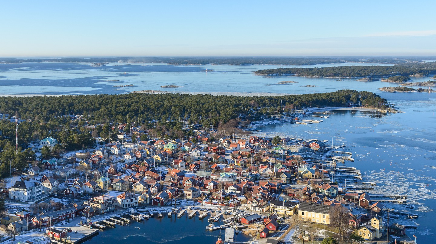 A gorgeous aerial shot of Sandhamn