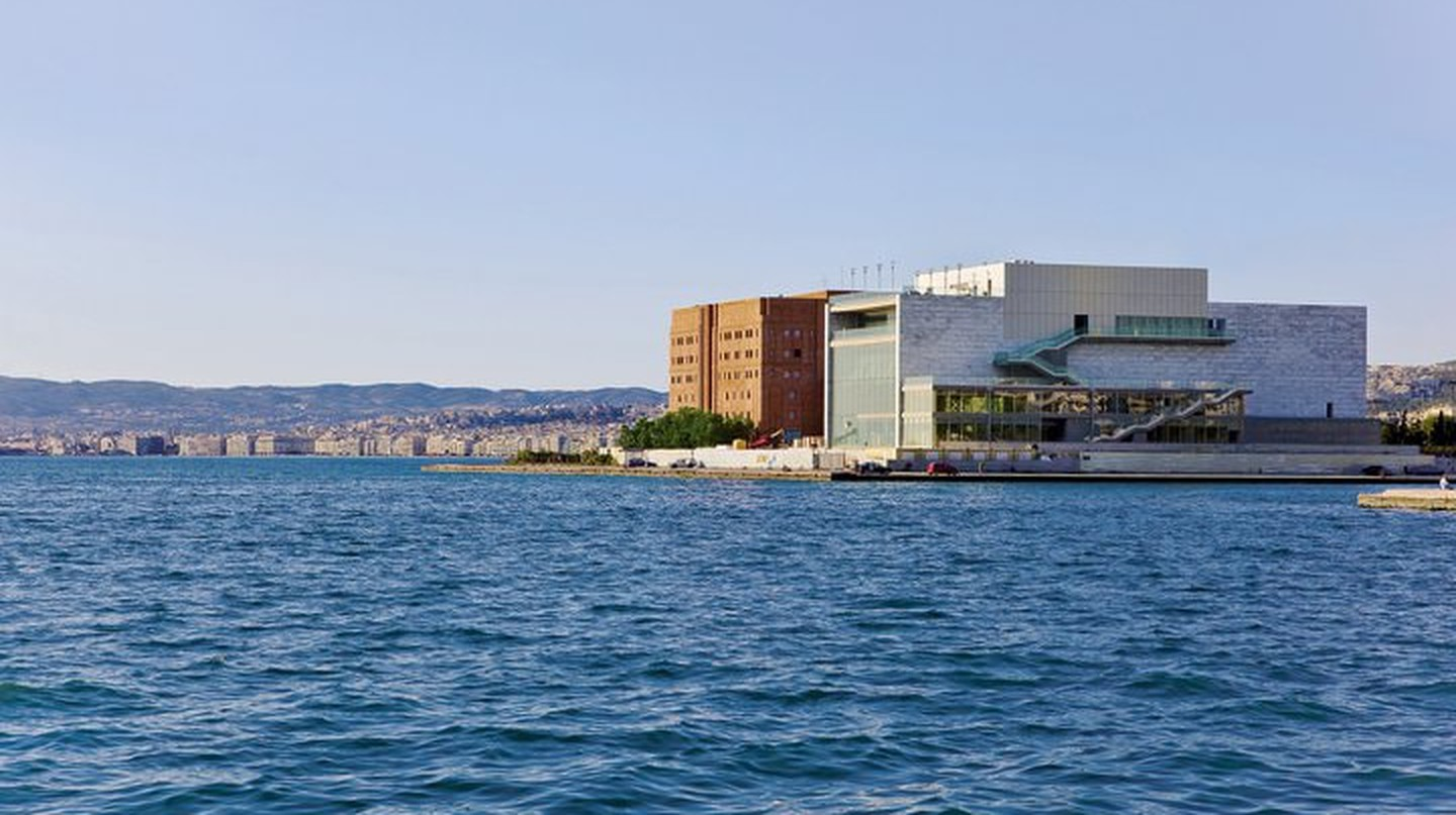M1 & M2 (on the right) buildings Thessaloniki Concert Hall