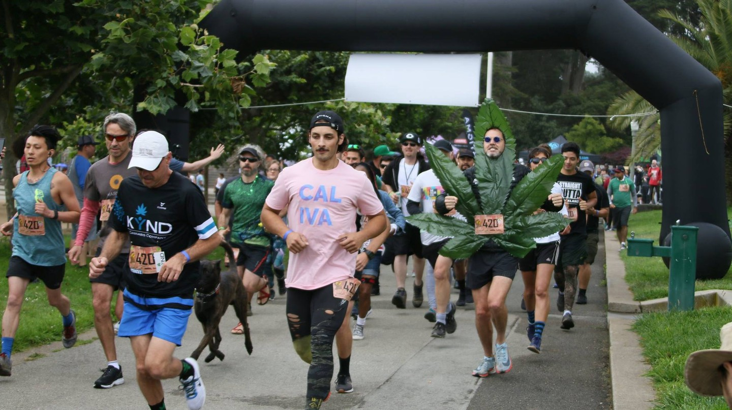 There is a 4.20-mile race at each of the 420 Games events