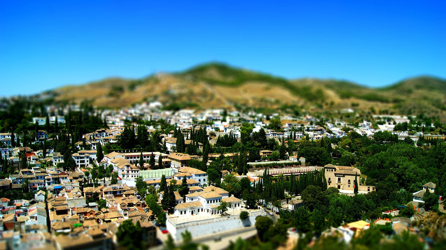 Albaicin, Granada's old Moorish quarter, as seen from the Alhambra