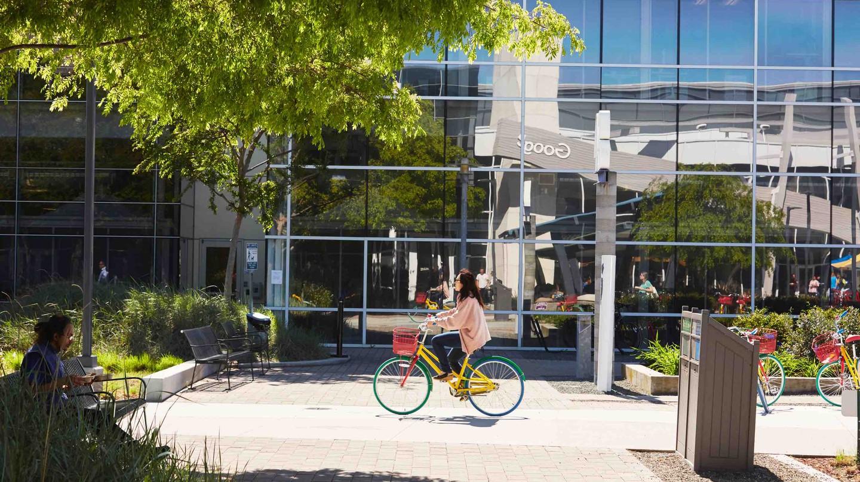Biking on the Google Campus