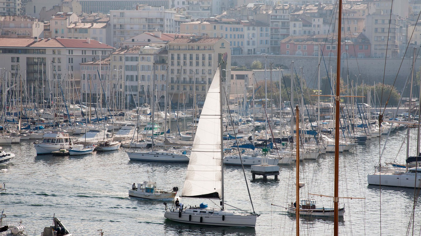 Old port in Marseille, Provence, France.