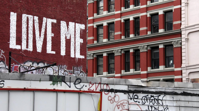 Graffiti in the Tribeca District of lower Manhattan