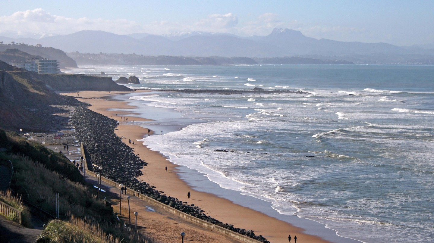 The coastline of Biarritz, south-west France.