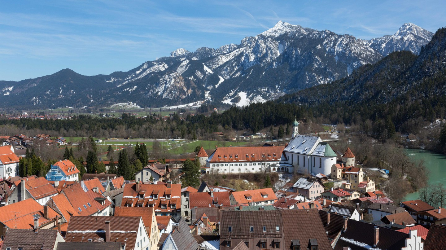 Hohes Schloss Fussen and the Bavarian Alps