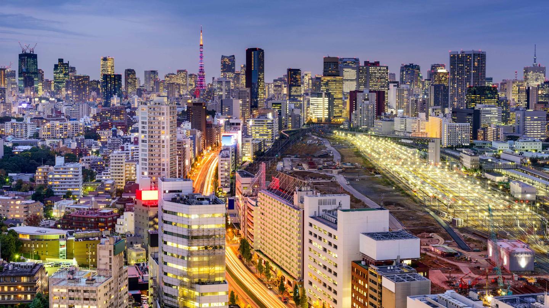 Tokyo, Japan cityscape over Shinagawa.