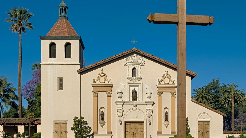 Mission Santa Clara de Asís located in Santa Clara, California