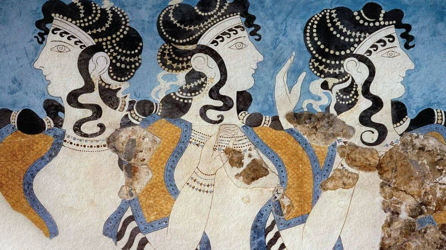 'Ladies of the Minoan Court' from the Palace of Knossos, Minoan