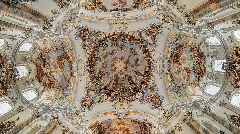 Frescoes in Ottobeuren Abbey