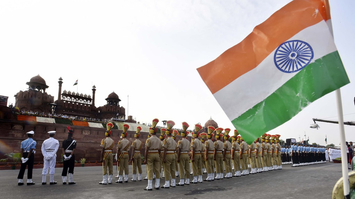 The main Independence Day ceremony takes place at the Red Fort in New Delhi, India