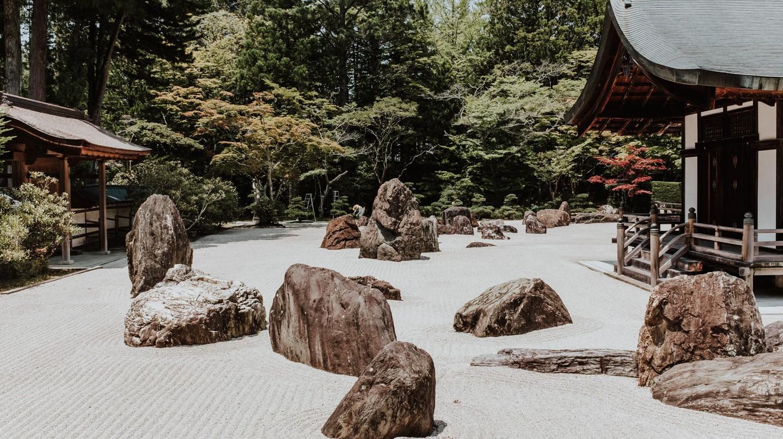 Kongōbu-ji and its rock garden, Mount Koyasan, Japan