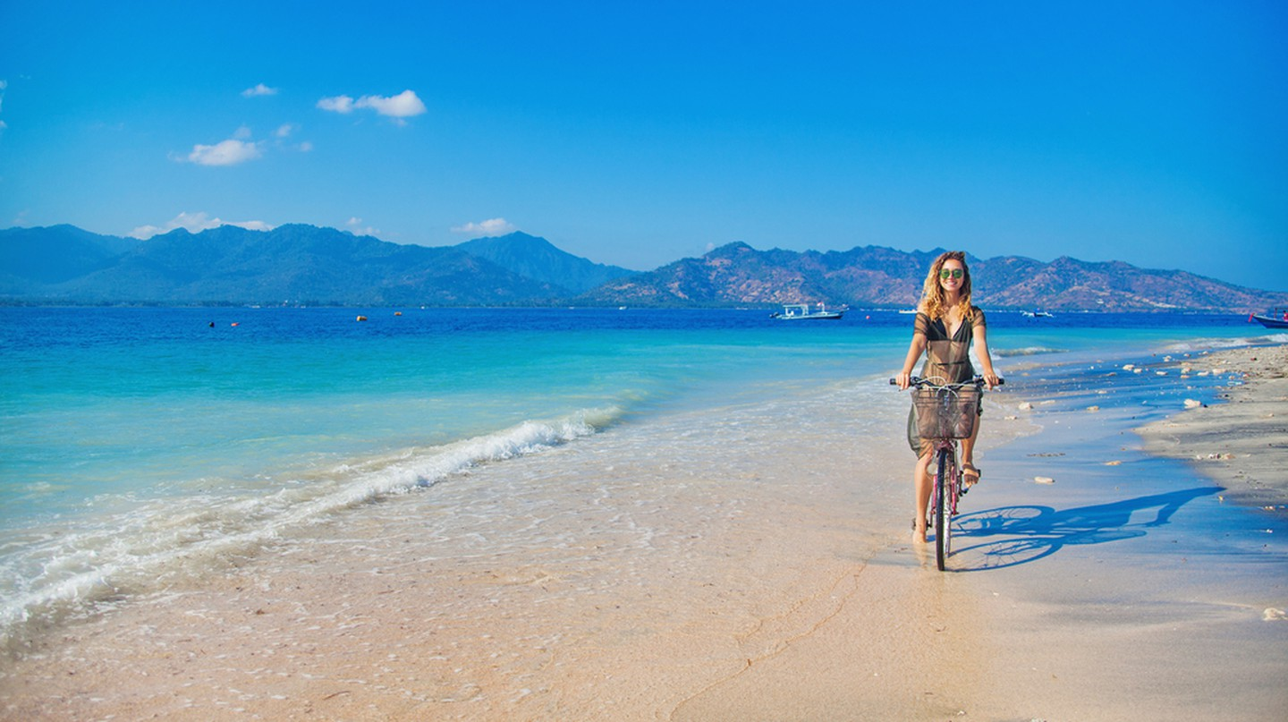The Gili Islands, between Bali and Lombok, are known for their laid-back beachy vibe