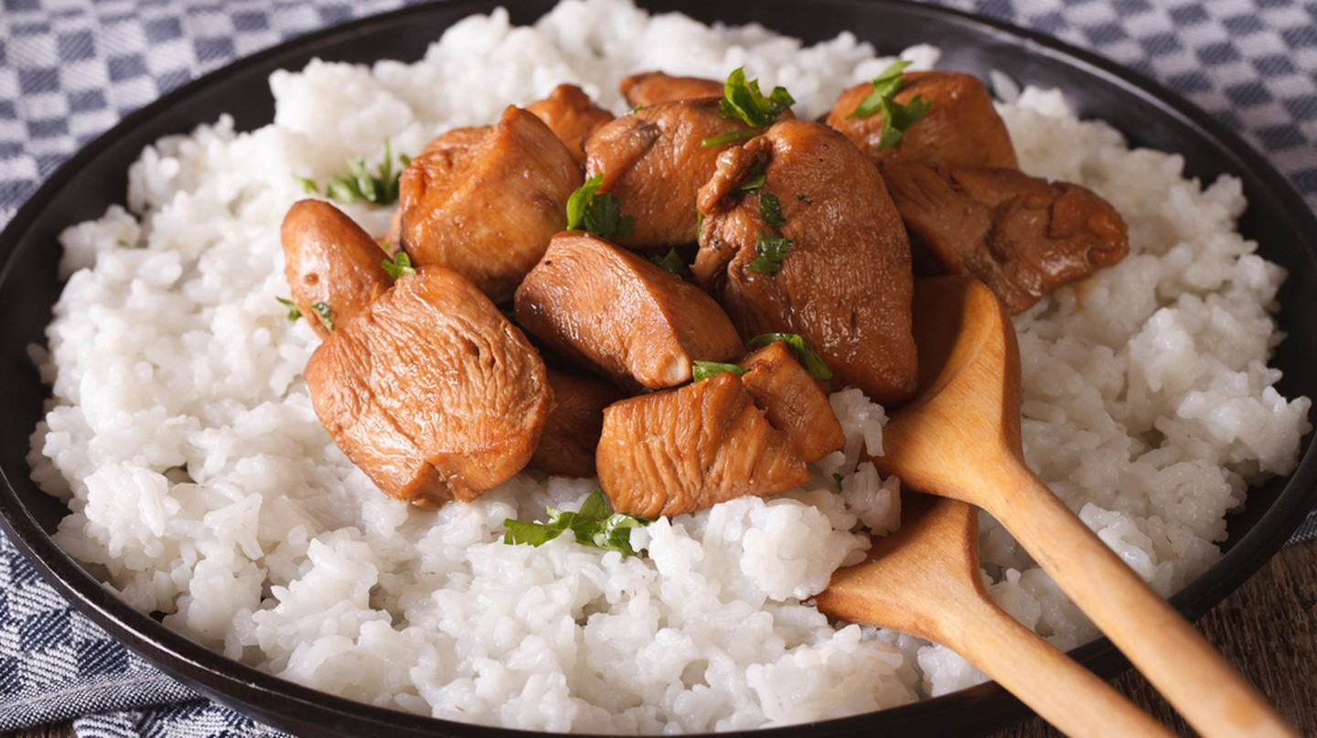 Philippine cuisine, Adobo with rice