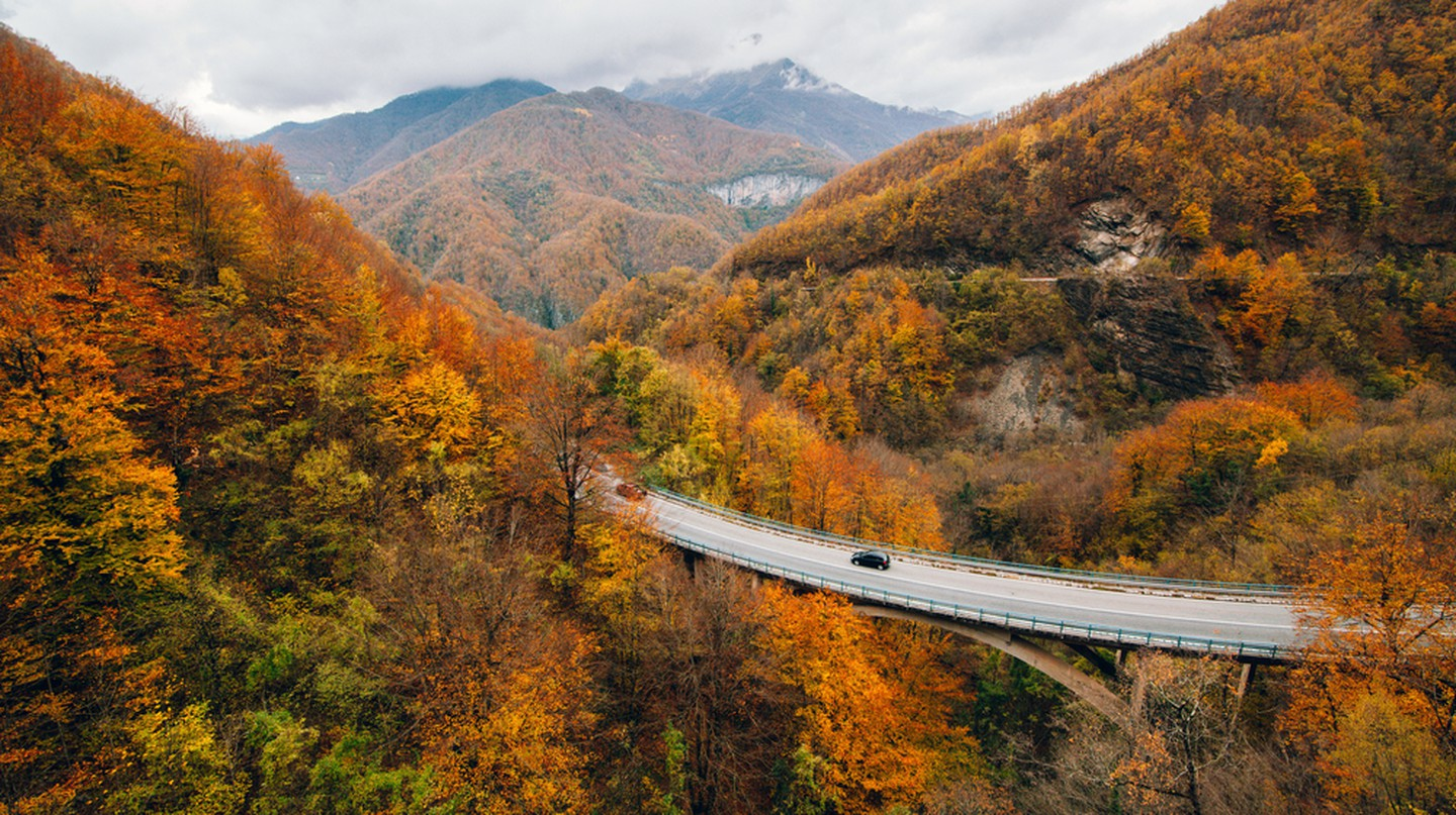 Autumn landscape in mountainous Montenegro
