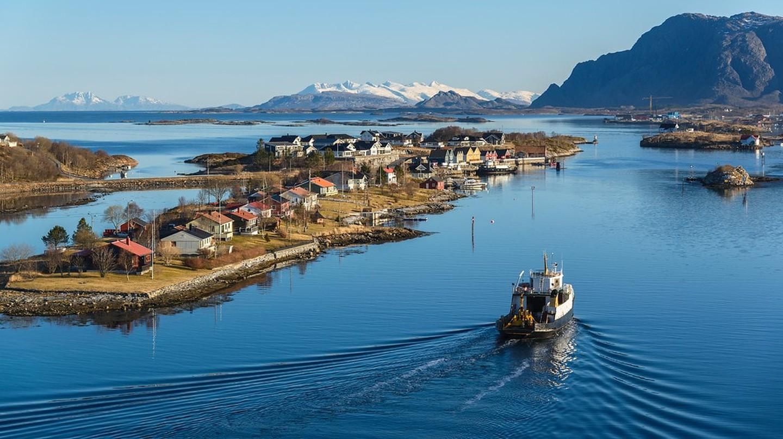 Tverrøya and Nordøya in Brønnøysund, along Helgelandskysten