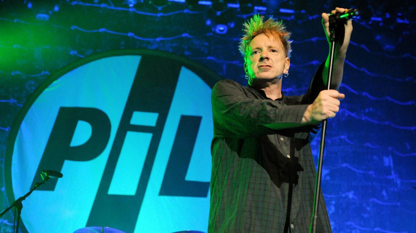 John Lydon performing with PiL