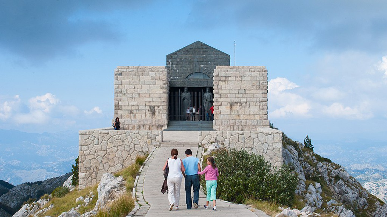 The final resting place of Prince Njegoš at Mount Lovćen, Montenegro