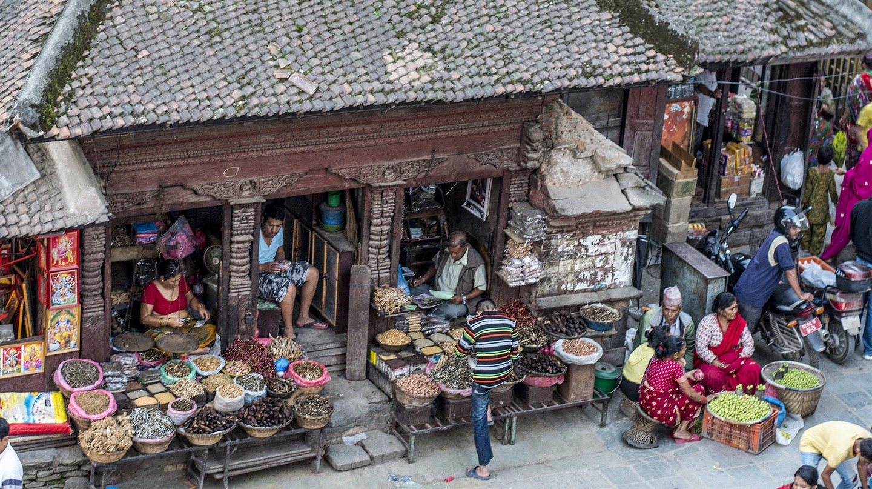 Central Kathmandu's ancient Asan Market