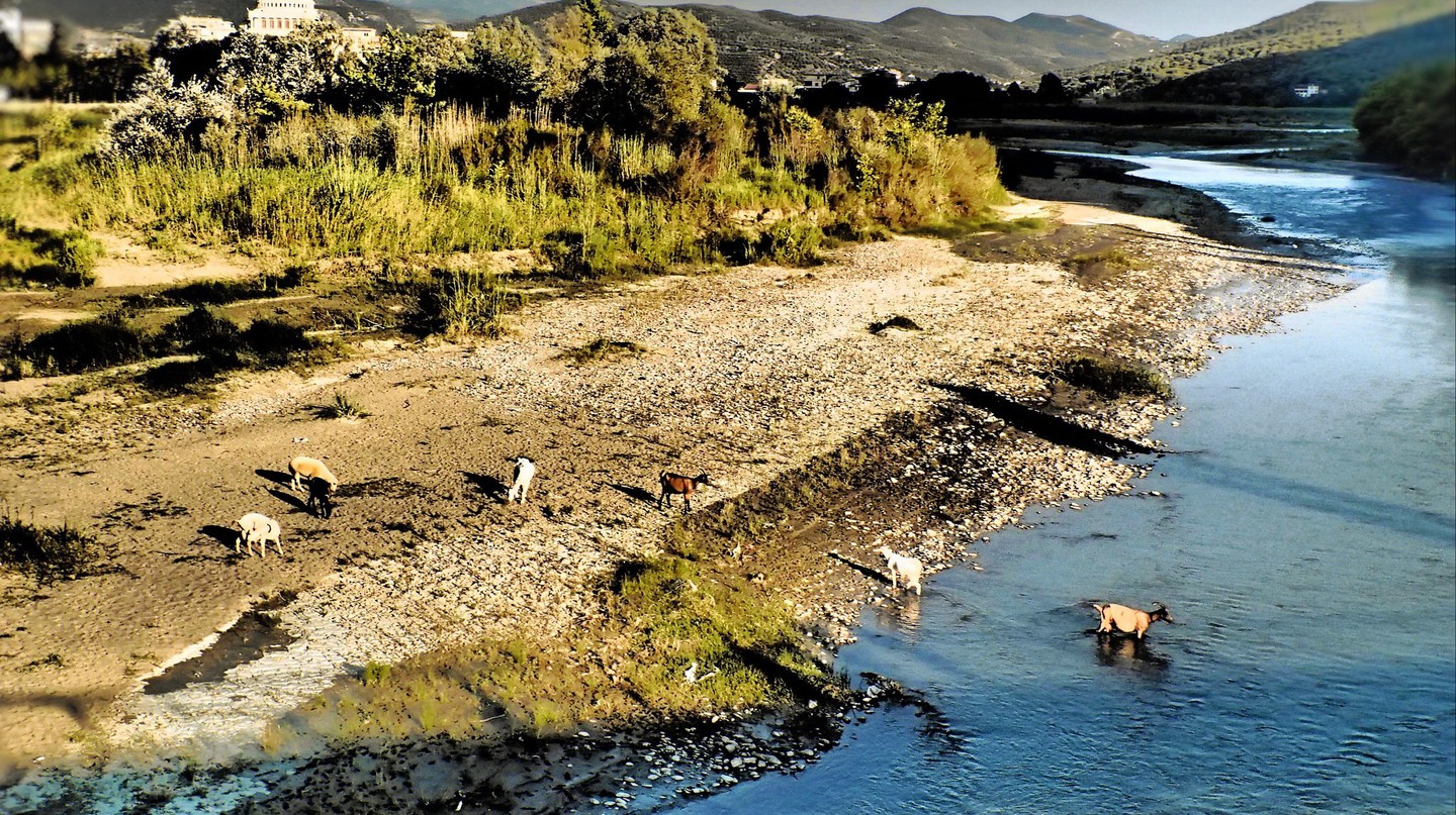 Osum River starts in Berat and continues through Corodove in the south Albania