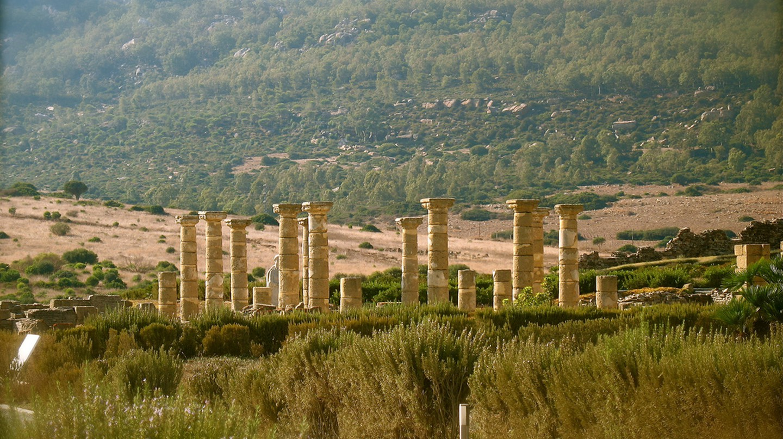 The Baelo Claudia Roman ruins near Tarifa, in southern Spain