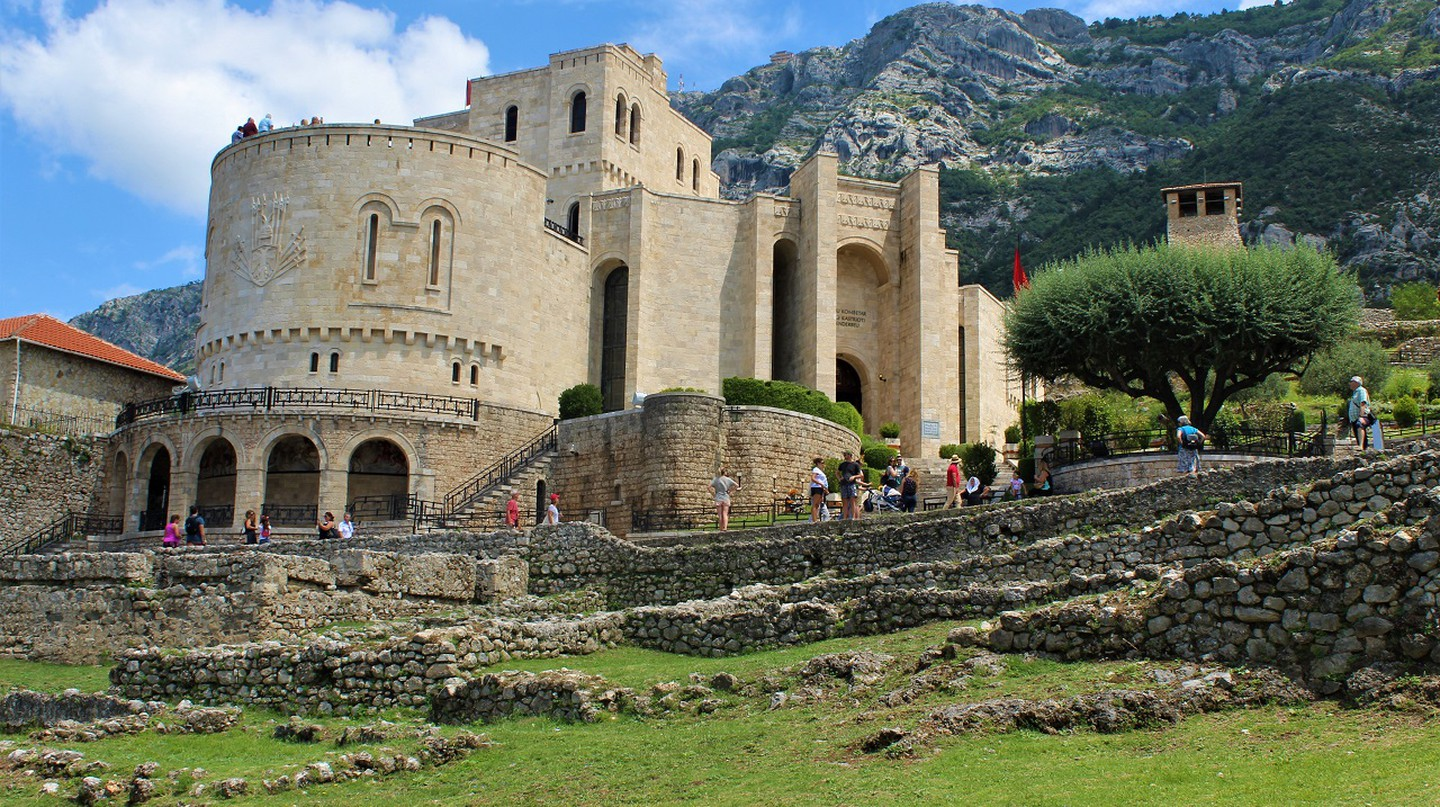 The Skanderbeg Museum in Kruja, dedicated to national hero George Kastriota Skanderbeg
