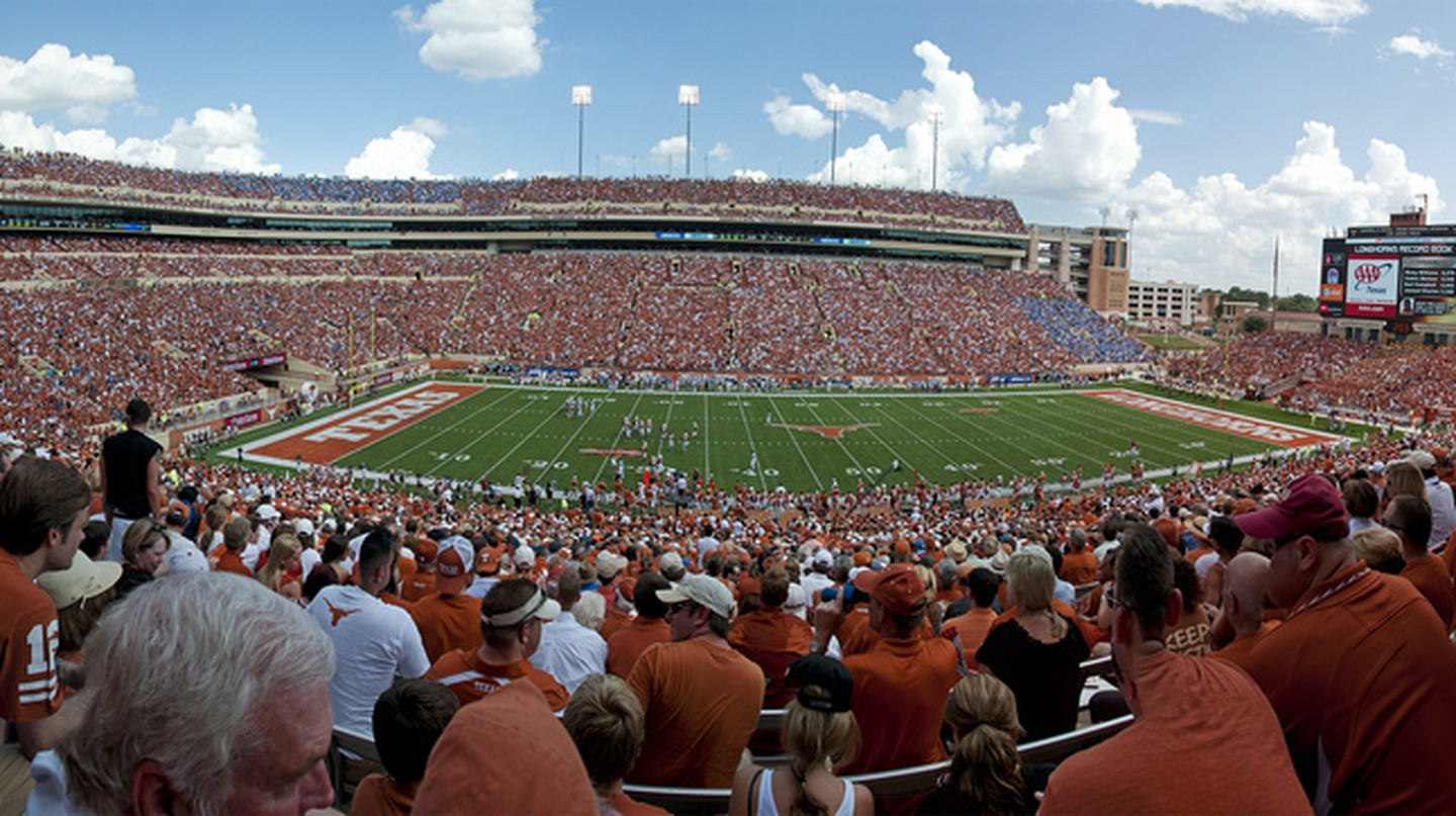 Darrell K Royal-Texas Memorial Stadium is the ninth-largest stadium in the world