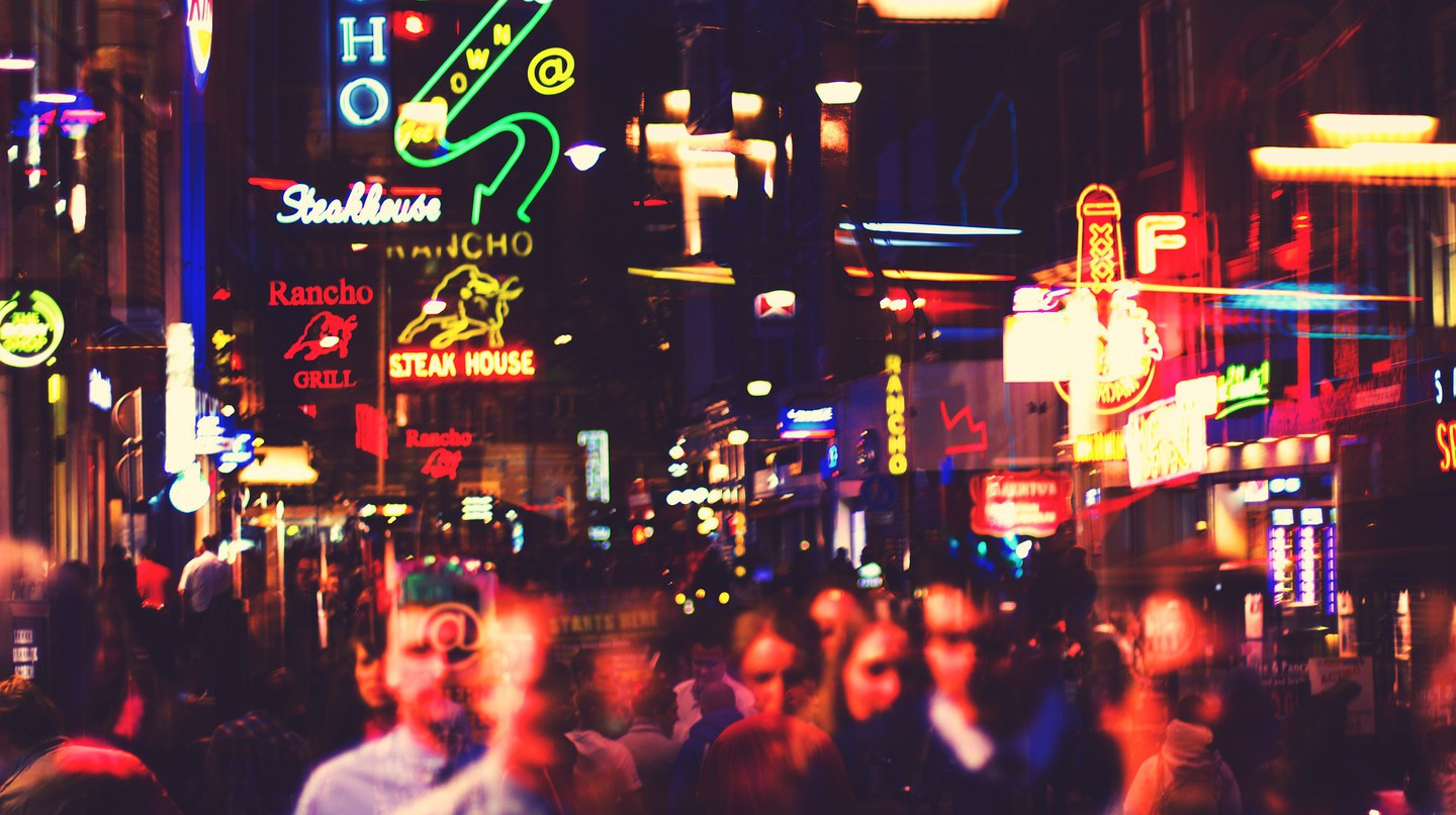 Neon lights in the Red Light District