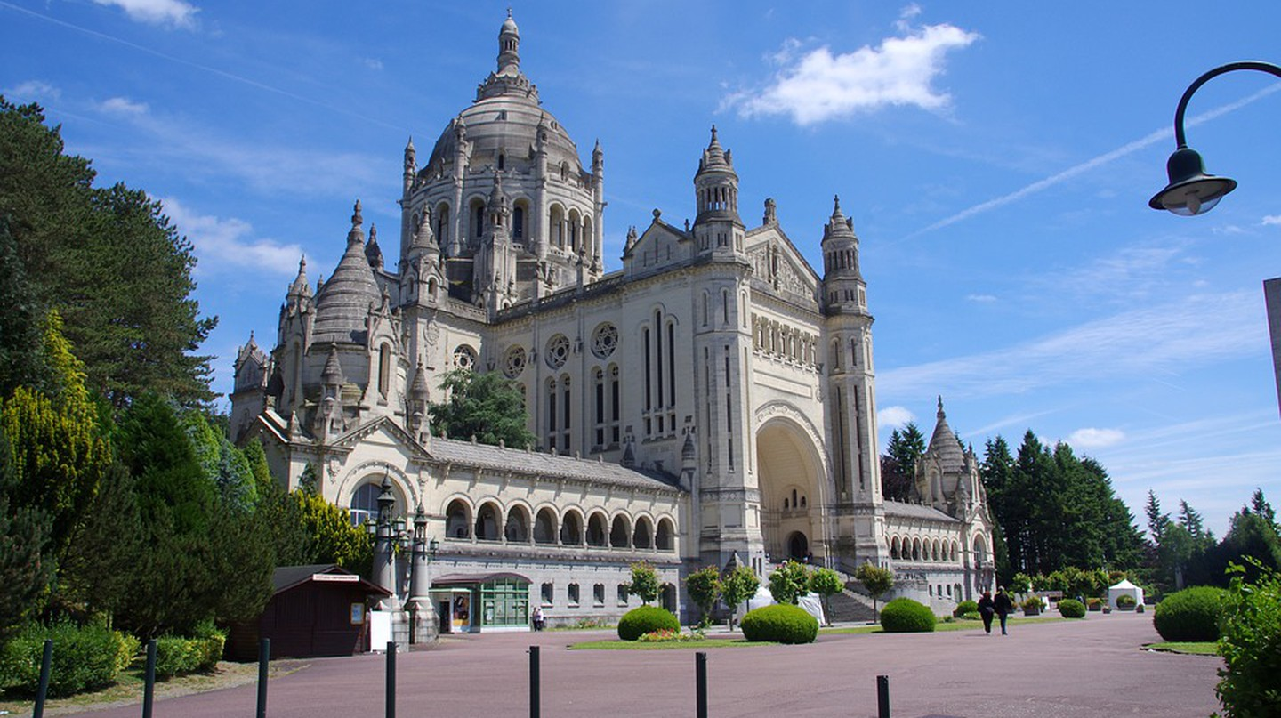 The Basilica of St. Thérèse in Lisieux, France