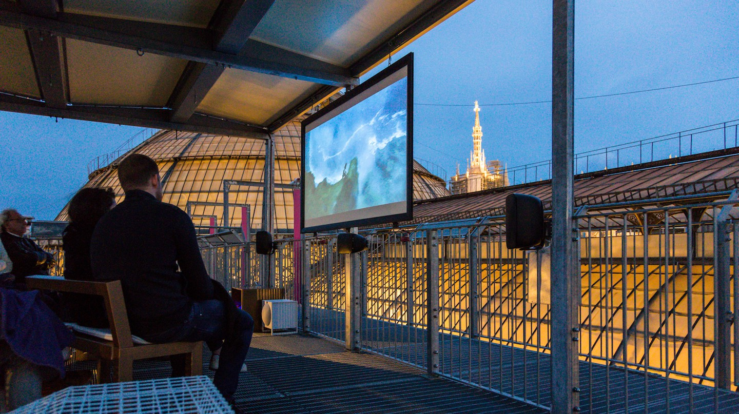 Cinema Bianchini on the roof of the Galleria Vittorio Emanuele II shopping mall, Milan