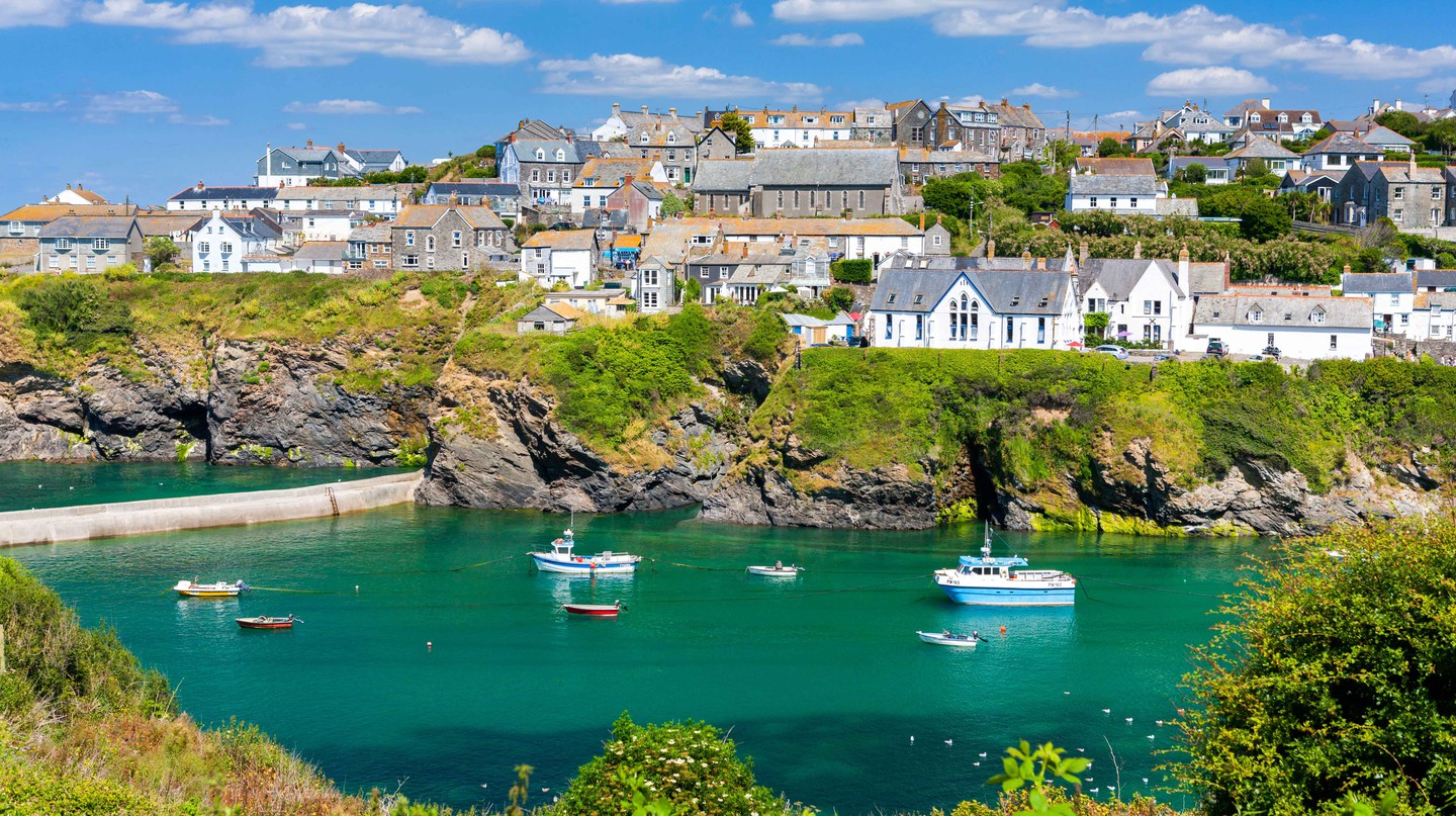 Port Isaac, a small village on the coast of north Cornwall, England