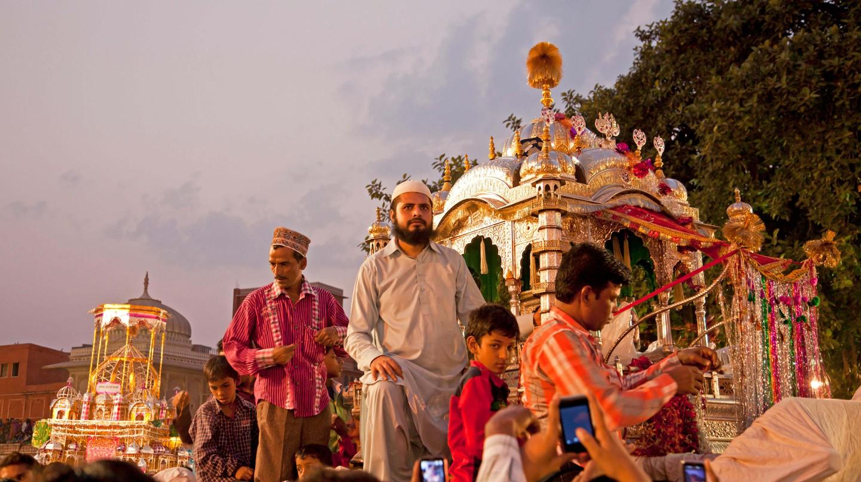 Islamic Muharram procession in Jaipur, India