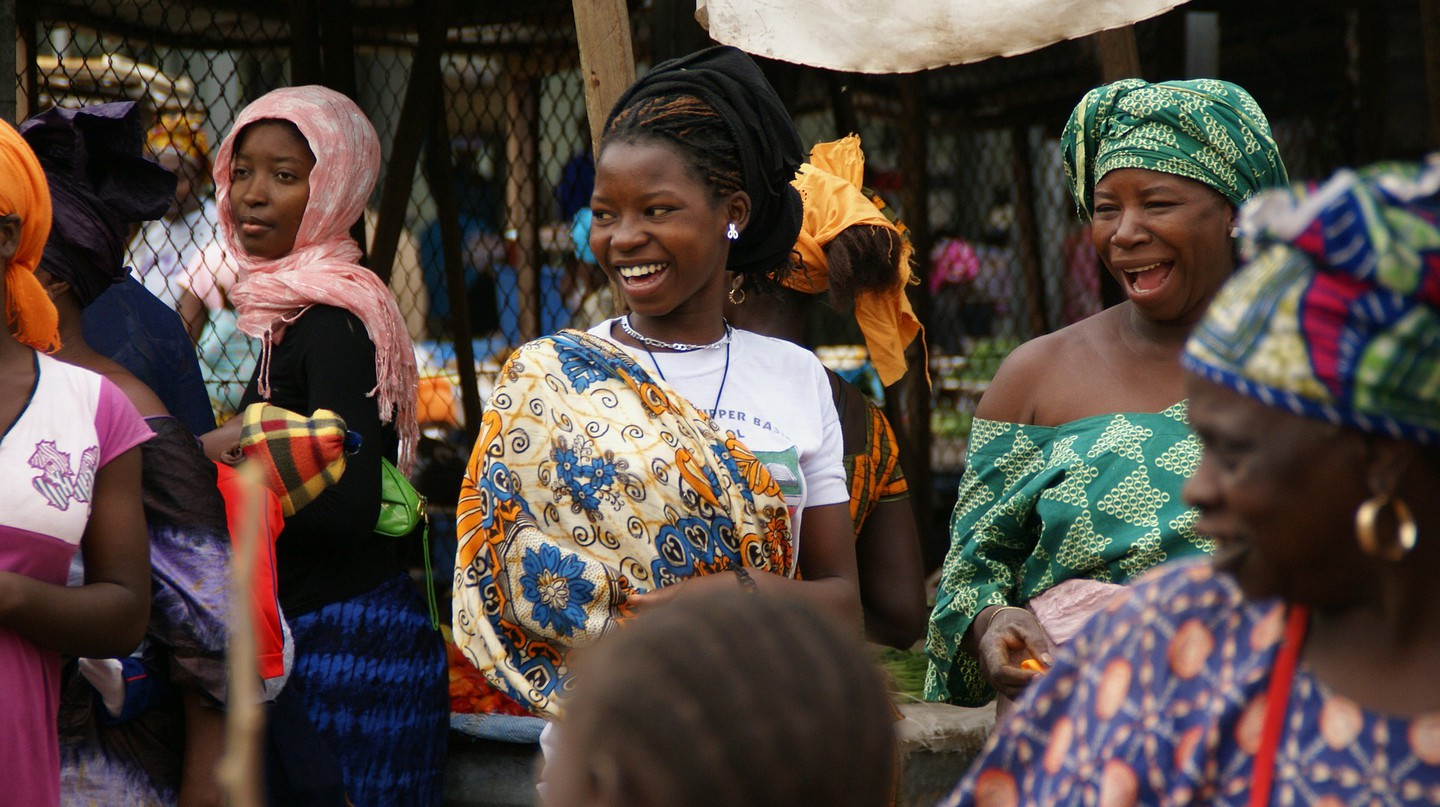 Gambian women in the marketplace