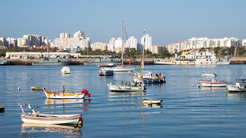 Fishing boats between Ferragudo and Portimao