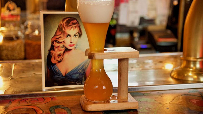 A Belgian beer at Café Belgique