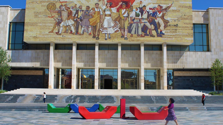 Skanderbeg Square is the heart of Tirana