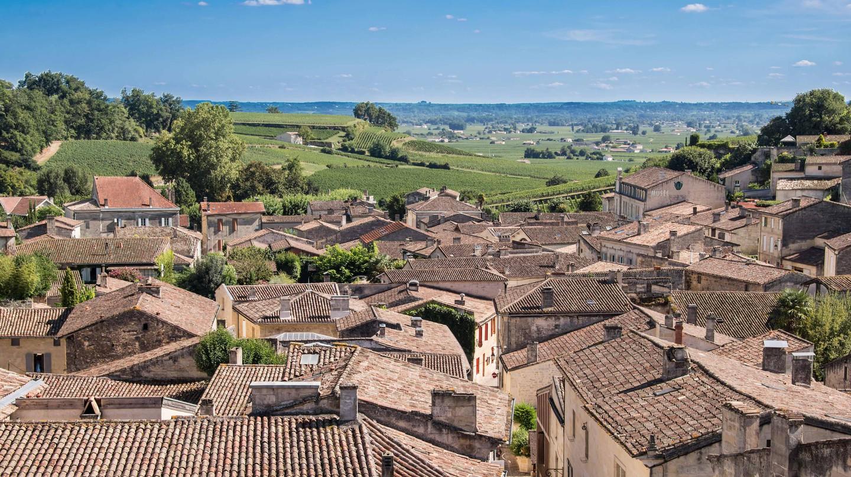 Village of Saint Emilion, Bordeaux, France.
