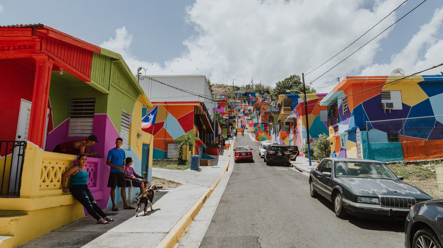 Colorful homes in Puerto Rico