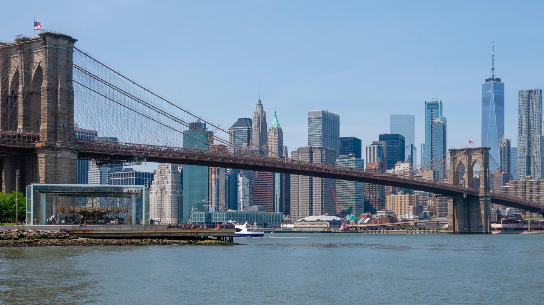 Manhattan skyline and Brooklyn Bridge
