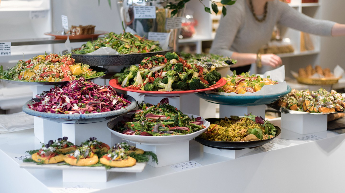 Yotam Ottolenghi's eponymous delis offer colourful Israeli salads