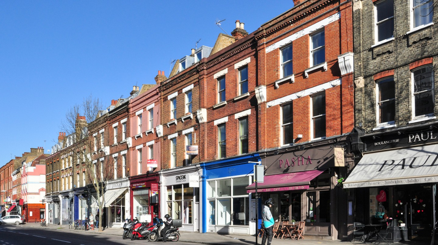 Shops along Upper Street, Islington, London