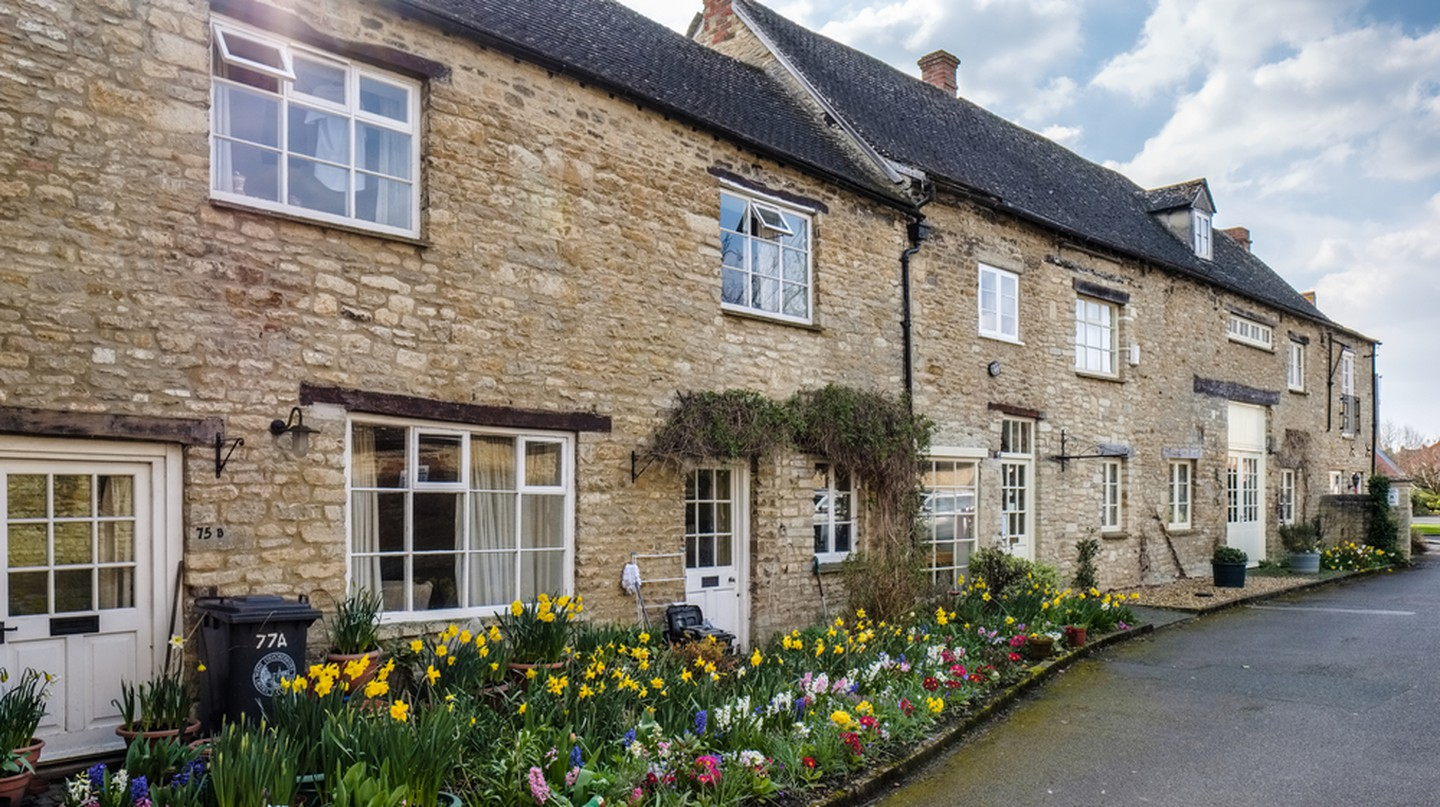 Houses in Witney, Oxfordshire.