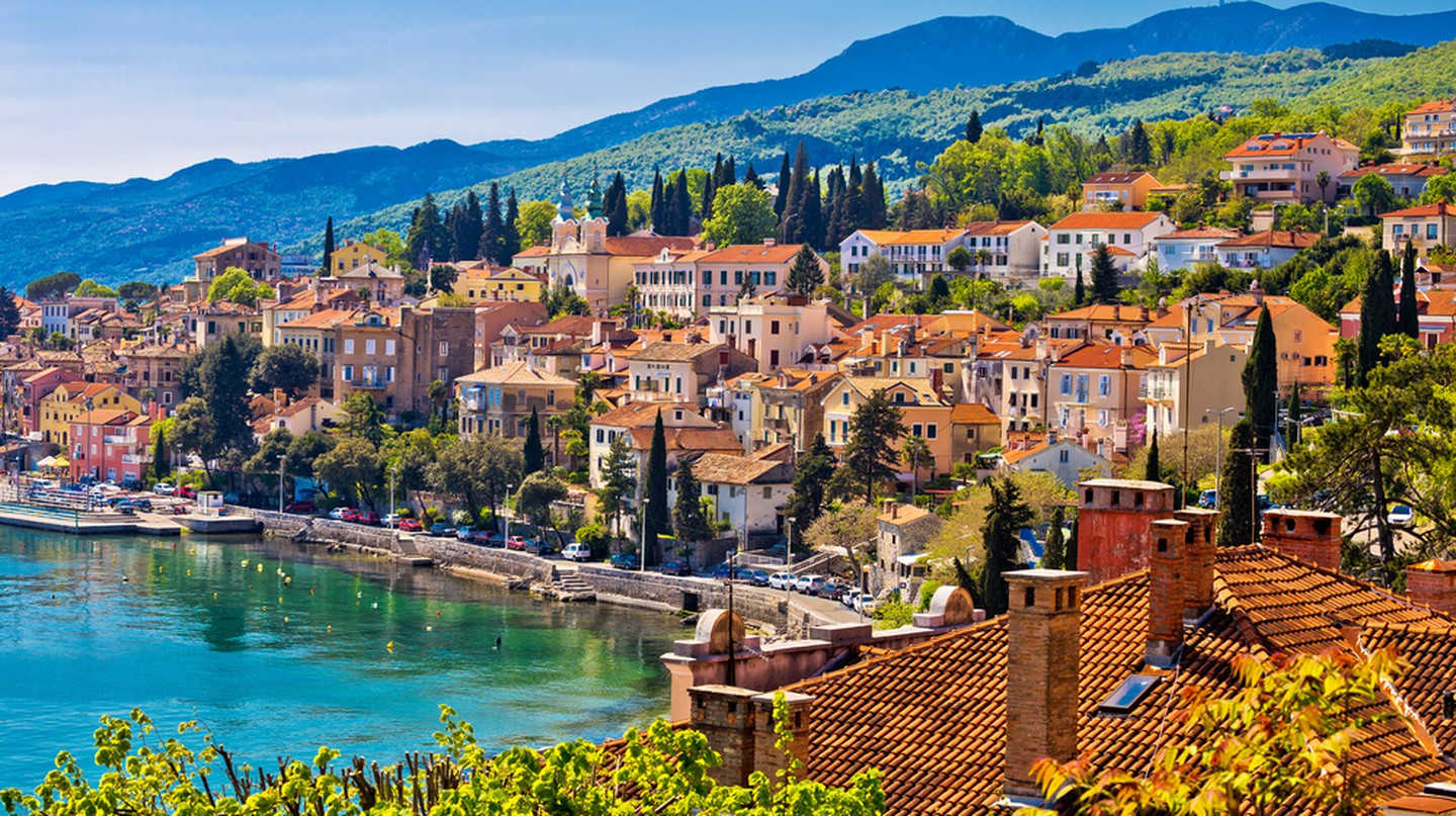 Town of Volosko, Opatija riviera of Croatia.