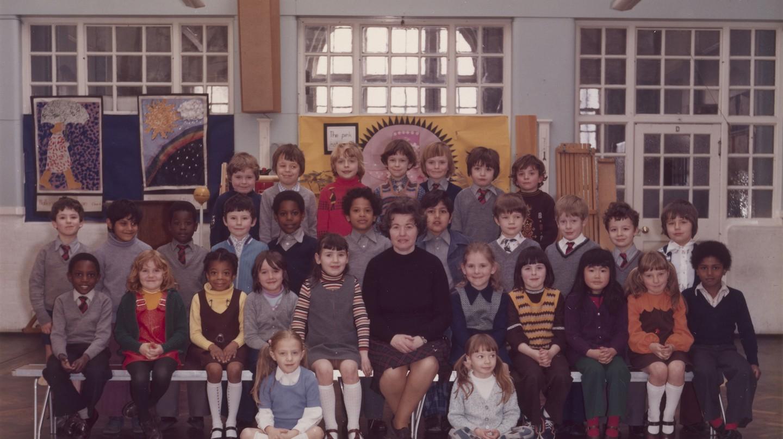 Steve McQueen Year 3 class at Little Ealing Primary School, 1977